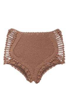 These **Helen Rödel** Penelope Hotpants are rendered in hand knit crochet and… Crochet Skirt Pattern, Crochet Romper, Crochet Clothes, Crochet Bikini, Knit Crochet, Crochet Patterns, Motif Bikini, Bikini Inspiration, Crochet Fashion