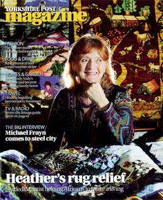Heather Ritchie - another inspirational artist who makes rag rugs and teaches blind women in Gambia ... I've been on one of her workshops and hope to meet her again.