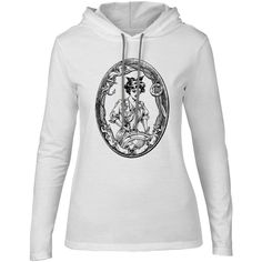 Mintage Sailor Girl Womens Fine Jersey Hooded T-Shirt