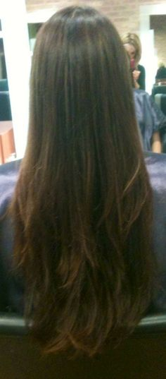 Straight Brown Layers - Hairstyles and Beauty Tips
