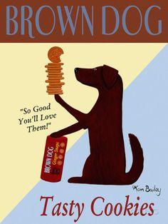 Brown Dog Tasty Cookies Poster tekijänä Ken Bailey AllPosters.fi-sivustossa