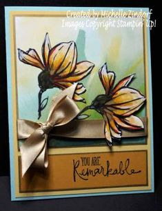 Remarkable You Flowers – Stampin' Up! Card