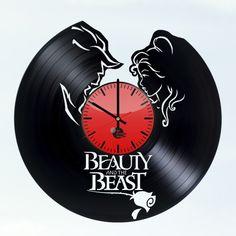 Beauty And The Beast Story Handmade Vinyl Record Wall Clock Fan Gift - VINYL CLOCKS