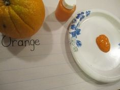 Graphing and painting with oranges Objects, Classroom, Orange, Activities, Fruit, Paper, Painting, Color, Preschool Ideas