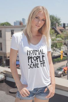 Normal people scare me shirt Normal people scare me tshirt Funny quote t shirts instagram shirts Tumblr shirt fashion top Gift for Her by quoteshirt from quoteshirt on ETSY. Find it now at http://ift.tt/1sXxYIy!
