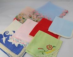 Seven Cutter Hankies  for Crafting Sewing by CraftStuffDepot