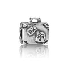 PANDORA charm - Suitcase in sterling silver, $40 (For local prices, please contact your PANDORA retailer) #PANDORA #PANDORAcharm #Travel
