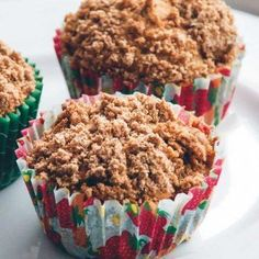 Æble kanel muffins fra Bageglad Danish Dessert, Cake Toppings, Apple Recipes, Cereal, Food And Drink, Cupcakes, Baking, Breakfast, Apples