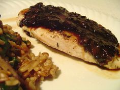 Blackberry-Balsamic Glazed Chicken- Can be used with any jam you like