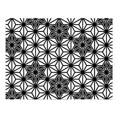 Japanese Asanoha pattern - white and black Postcard Geometric Tattoo Shoulder, Geometric Sleeve Tattoo, Geometric Tattoo Design, Mens Shoulder Tattoo, Geometric Pattern Design, Flower Tattoo Shoulder, Mandala Tattoo Design, Tattoo Designs, Geometric Tattoos