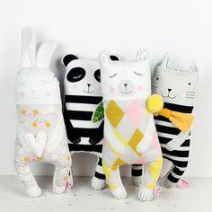 animal soft toys by PinkNounou -1