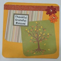Thanksgiving card. Layered prints and details.