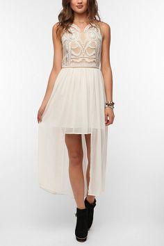 Elliatt Embroidered Athena High/Low Maxi Dress I love the details!