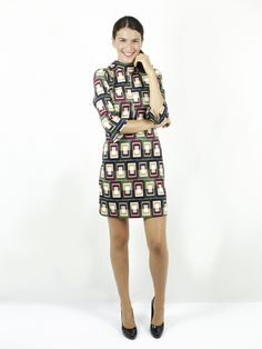 fd79a8161660 abito geometrico - compagnia italiana - abbigliamento donna -  luanfashionstore
