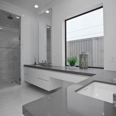 Bathroom Black White Grey Granite Countertops Design Ideas, Pictures, Remodel, and Decor