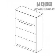 » Vysoká sklápacia posteľ CONCEPT CO-02P, biela/biely lesk 120