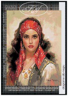 Gallery.ru / Фото #1 - 1 - erzsi Mona Lisa, Cross Stitch, Fantasy, Embroidery, Crochet, Artwork, Painting, Zoom Zoom, Ph