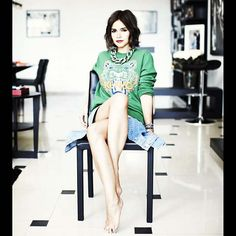 """Miroslava Duma  """"shorty"""" like me and can pull it off with anything!"""