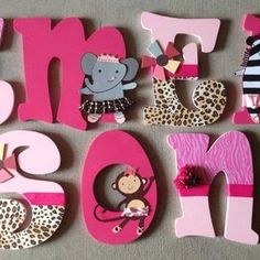 decorating large wooden letters - Google Search