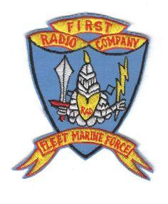 "USMC Marine Patch: 1st Radio Company, Fleet Marine Force - 3 1/4"""