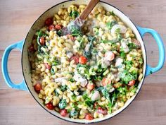 Chicken Florentine Mac and Cheese Recipe | Ree Drummond | Food Network Pasta Recipes, Beef Recipes, Chicken Recipes, Cooking Recipes, Skillet Recipes, Skillet Meals, What's Cooking, Recipies, Macaroni Cheese