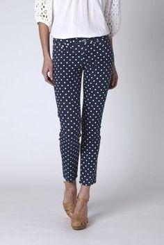 ag polka dot skinny jeans