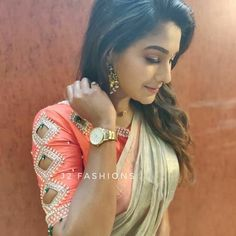 Top 30 Latest And Trendy Blouse Designs For Back Neck Blouse Back Neck Designs, Fancy Blouse Designs, Bridal Blouse Designs, Sleeves Designs For Dresses, Sleeve Designs, Stylish Blouse Design, Designer Blouse Patterns, Saree Blouse, Sexy Blouse