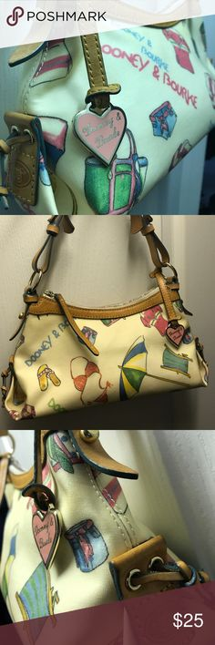 Dooney & Bourke Leather Bag Authentic Dooney & Bourke premium leather bag. Summer themed design. Moderately used however in great condition! Dooney & Bourke Bags Shoulder Bags