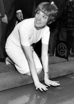 Julie Andrews hand print ceremony, Grauman's Chinese Theatre 1966
