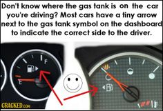 Which direction your gas tank is in.
