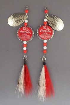 Coke bottle cap fishing lures Set of  spinners by MoreFishingLures, $5.00