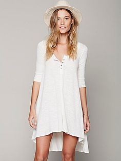 Free People Drippy Jersey Dress. in love with this.! with tall brown boots and floppy hat