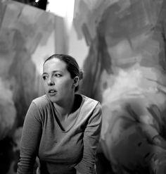 Jenny Saville working on Suspension
