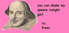 Shakespeare valentine