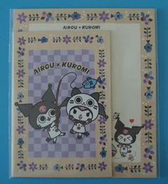 Sanrio Monster Hunter Airou x Kuromi Fishing Letter Sets