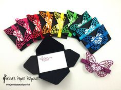 jpp - Giftcard Holder Butterfly / Geldgeschenk / Gutschein / Verpackung Geldkarten / Stampin' Up Berlin / Thinlits Schmetterling / Envelope Punch Board / Herzblatt www.janinaspapeprotpourri.de
