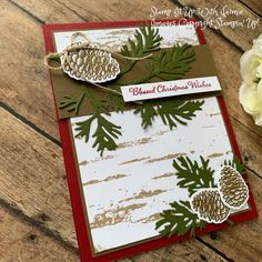 Stampin' Up! Peaceful Boughs Christmas Card – Stamp It Up with Jaimie Stamped Christmas Cards, Stampin Up Christmas, Christmas Cards To Make, Christmas Greeting Cards, Holiday Cards, Christmas Tag, Christmas 2019, Christmas Greetings, Handmade Christmas