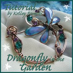 TUTORIAL Dragonfly in the Garden Beaded Wire Brooch or Pin (INSTANT DOWNLOAD)
