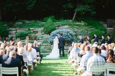 Meadow Brook Hall wedding ceremony in our Rock Garden. Photo courtesy of @nikitaylor.