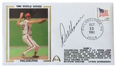 Del Unser Phillies Signed 1980 World Series Gateway First Day Cover SI