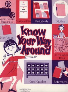 Here are eight sweet posters from a 32-poster book, first published in 1965,Using Your Library: 32 Posters for Classroom and Library, by Mary Joan Ega ...