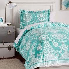 Natalia Duvet Bedding Set with Duvet Cover, Duvet Insert, Sham, Sheet Set + Pillow Inserts | PBteen