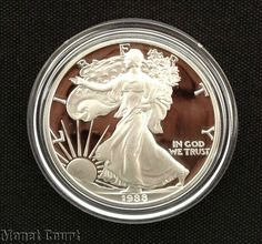 1988 Silver American Eagle Proof Bullion Coin