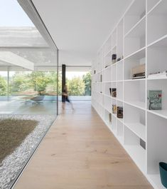 Interior shot of a concrete Portuguese house.