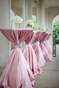 Amazing - Pink outdoor  cocktail belly bar tables   CHECK OUT MORE GREAT PINK WEDDING IDEAS AT WEDDINGPINS.NET   #weddings #wedding #pink #pinkwedding #thecolorpink #events #forweddings #ilovepink #purple #fire #bright #hot #love #romance #valentines #pinky