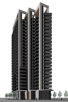 15-062 Condominium Architecture, Dubai Architecture, Conceptual Architecture, Unique Architecture, Residential Architecture, Building Elevation, Building Facade, Building Design, Facade Design