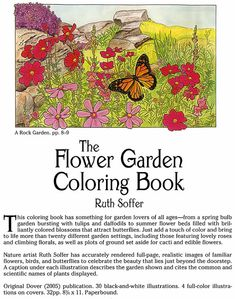 THE FLOWER GARDEN COLORING BOOK ABOUT THIS BOOK Ѿ Welcome to Dover Publications