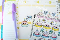 Happy Birthday PLANNER STICKERS (SWM12) (3.80 CAD) by STICKWITHMEshop