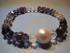 15 €  cultured pearl 16mm + Swarovski crystal + fireball crystal checo + stainles steel 316 L + elastic korean cord  perla cultivada + cristal Swarovski + cristal checo + acero inoxidable 316 L + doble hilo elastico koreano  collar pulsera perlas swarovski joyeria necklace bracelet pearls crystal jewelry  http://iaguirreb.wix.com/deperlas#!blank-2/c1ger