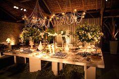 Decoração de casamento - mesa de doces